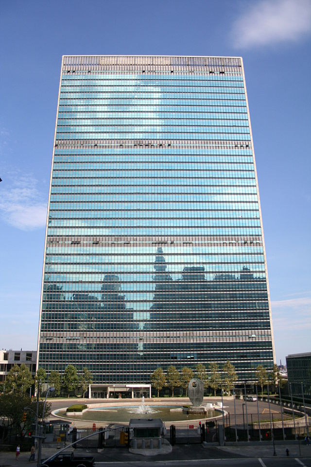 United Nations NY Building, SA, CC 3.0