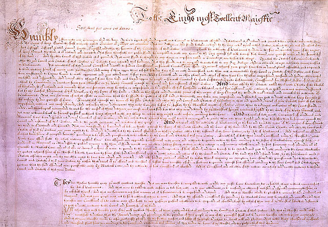 The Petition Of Right, 1628, Parliament Of England, Public Domain