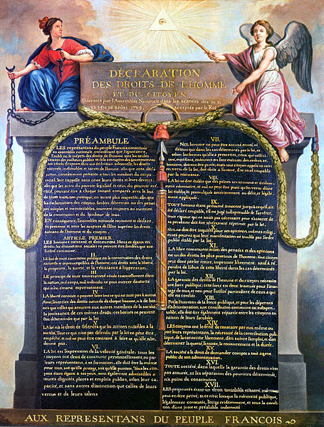 Jean-Jacques-François Le Barbier (1738–1826), Declaration of the Rights of Man and the Citizen of 1789, public domain