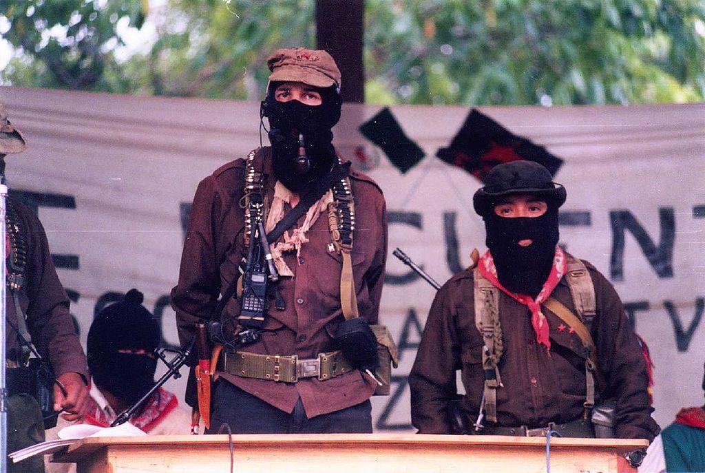Subcomandante Marcos and Comandante Tacho in La Realidad, Chiapas, 1999, TJ Scenes/Cesar Bojoquez, CC. 2.0