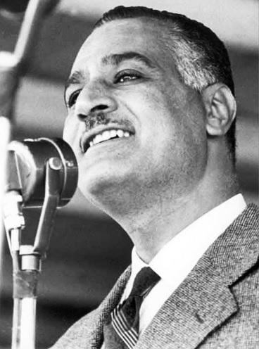 Egyptian President Gamal Abdel Nasser making a public speech in 1960, Bibliotheca Alexandrina, public domain