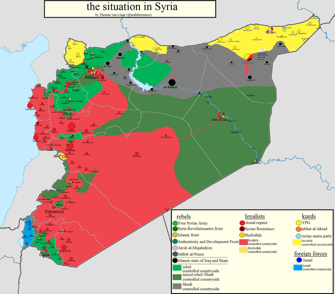 The Situation in Syria, Thomas Van Linge, www.joshualandis.com